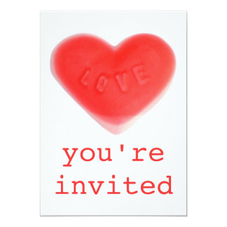 Sweet Heart 'You're Invited' invitation