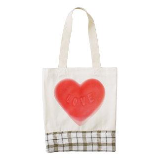Sweet Heart Zazzle HEART tote bag