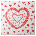 "Sweet Hearts 6"" x 6"" Ceramic Tile"
