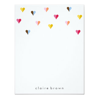 Sweet Hearts A2 Stationery - Multi Color 4.25x5.5 Paper Invitation Card