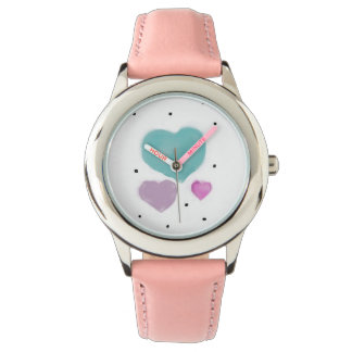 Sweet hearts adorn this cute child's watch