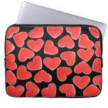 Sweet Hearts Black laptop sleeve