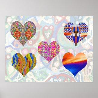 Sweet Hearts by Navin Joshi print