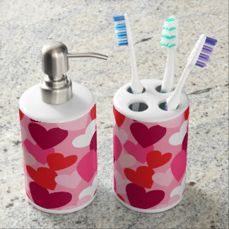 Sweet Hearts for your Sweetheart Soap Dispenser And Toothbrush Holder