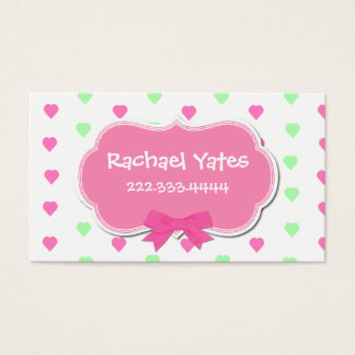 Sweet Hearts Girl's Play Date Card