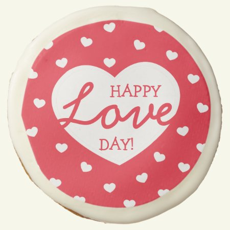 Sweet Hearts Happy Love Day Cookies / Red
