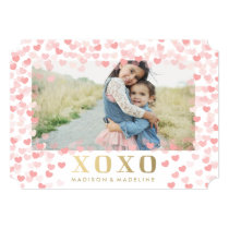 Sweet hearts in White | Valentine's Day Photo Card