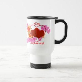 Sweet Hearts - Love transforms Life : Commuter Mug