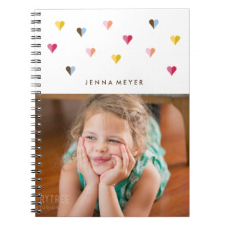 Sweet Hearts - Multi Colored - Photo Spiral Notebook