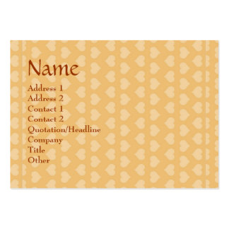 Sweet Hearts SWEEThearts in Golden background Business Card