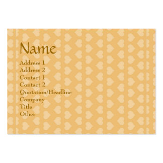 Sweet Hearts SWEEThearts in Golden background Large Business Card