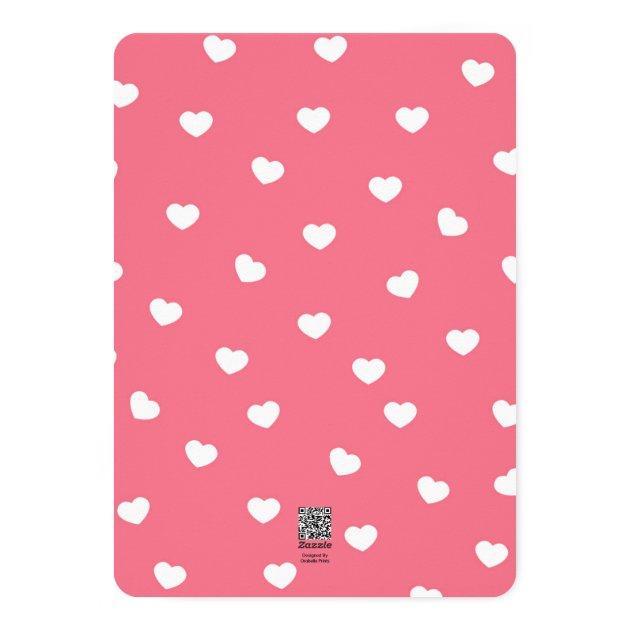 Sweet Hearts Valentine Photo Card / Pink (back side)