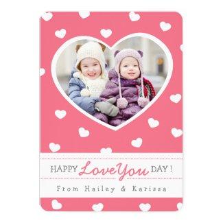 Sweet Hearts Valentine Photo Card / Pink