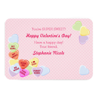 Sweet Hearts Valentines Candy Card