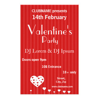 Sweet Hearts - Valentine's Day Party Flyer
