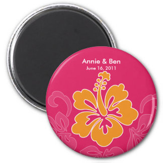 Sweet Hibiscus Save the Date Magnet