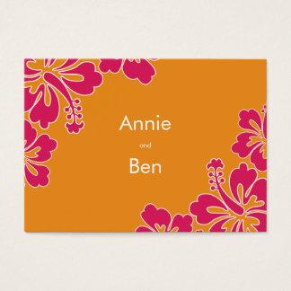 Sweet Hibiscus Wedding Directions Card