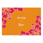 Sweet Hibiscus Wedding Directions Card Large Business Cards (Pack Of 100)