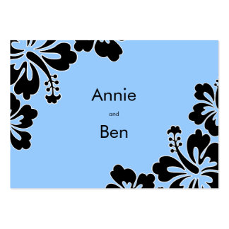 Sweet Hibiscus Wedding Directions Card Business Card
