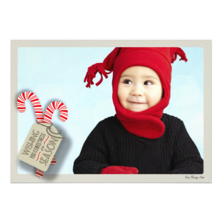 Sweet Holiday Photo Card Candy Canes