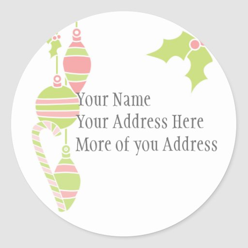 Sweet Holiday Set Round Stickers