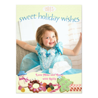 Sweet holidays custom photo card