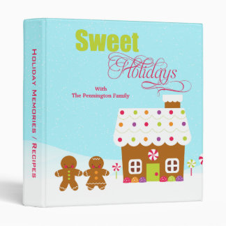 Sweet holidays gingerbread house christmas binder