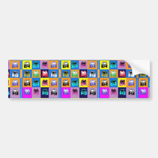 SWEET Home Abstract Graphic TEMPLATE Reseller GIFT Bumper Sticker
