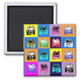 SWEET Home Abstract Graphic TEMPLATE Reseller GIFT Fridge Magnets