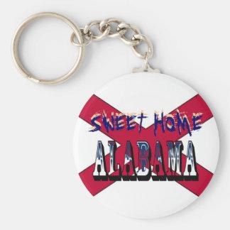Sweet Home Alabama State Flag Key Chain