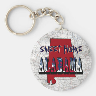 Sweet Home Alabama State Key Chain