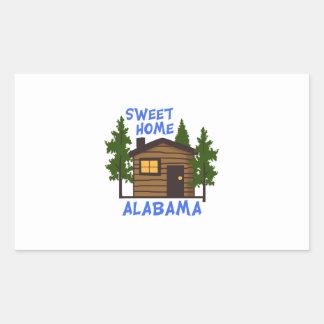 Sweet Home Alabama Rectangular Stickers