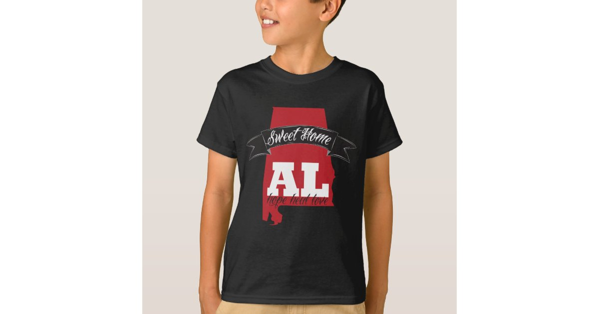 Sweet home alabama support t shirt zazzle for T shirt printing mobile al