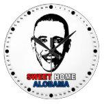 Sweet Home Alobama Round Wallclocks