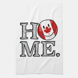 Sweet Home Canada Smiling Canadian Flag Kitchen Towels