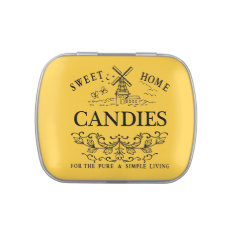 Sweet Home Candies Golden Tin Jelly Belly Tins at Zazzle