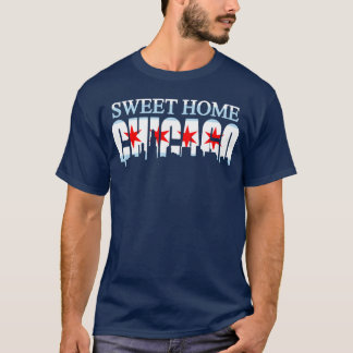 Sweet Home Chicago Flag Skyline t shirt