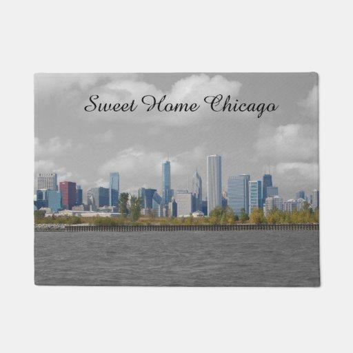 Sweet Home Chicago Skyline Doormat Zazzle