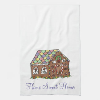 Sweet Home Housewarming Gift Gingerbread House Hand Towel