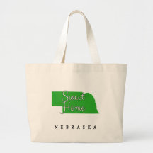 Sweet Home Nebraska Jumbo Tote Bag