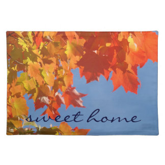 Sweet Home place mats Fall Leaves Autumn Colorful
