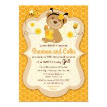 Sweet Honey Bear Baby Shower Invitation