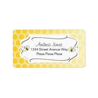 Sweet Honeycomb Address Label