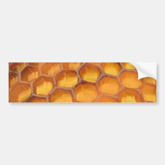 Sweet Honeycomb drawing orange yellow brown Car Bumper Sticker