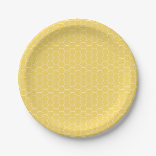 Sweet Honeycomb Pattern Paper Plates  sc 1 st  Zazzle & Sweet Honeycomb Pattern Paper Plates | Zazzle.com