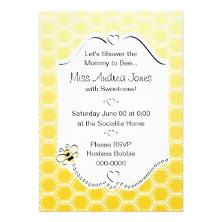 Sweet Honeycomb Personalized Invitations