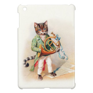 Sweet Horn-Playing Victorian Cat iPad Mini Case
