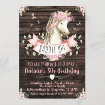 Sweet Horse Birthday Party Invitation