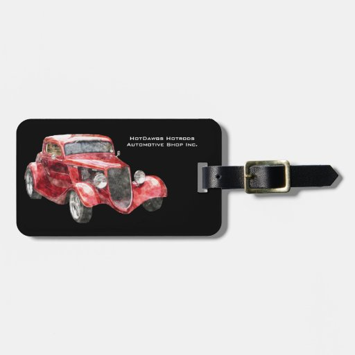 Sweet Hotrod Classic Car for  Auto Biz Tag For Luggage