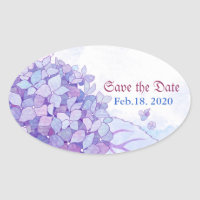 Sweet Hydrangea Wedding Save the Date Stickers
